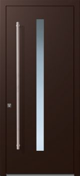 alumaflat door chocolate brown ral-8017